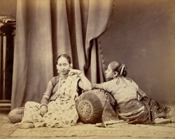 Girls wearing jewellery, from the Bengal collection at the International Exhibition of 1872